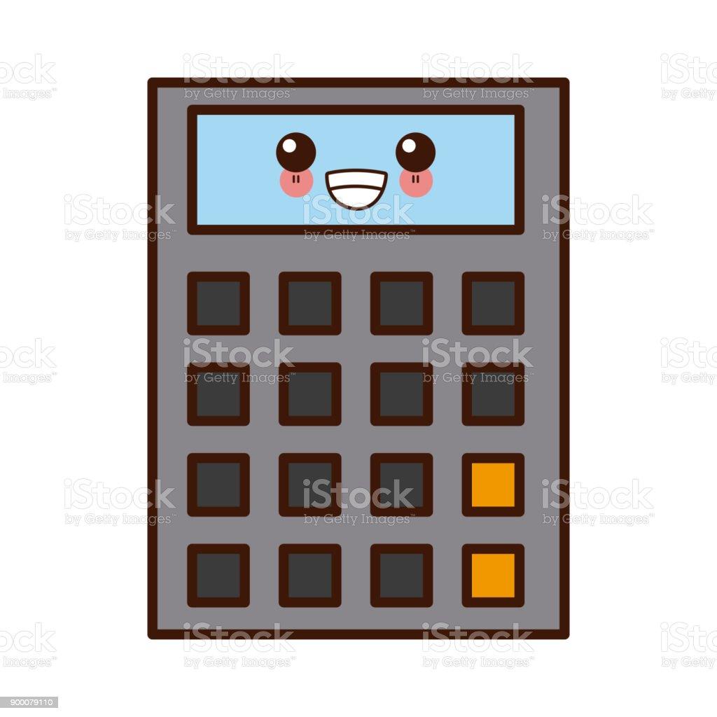 Ilustración De Dibujos Animados El Calculadora Matemáticas