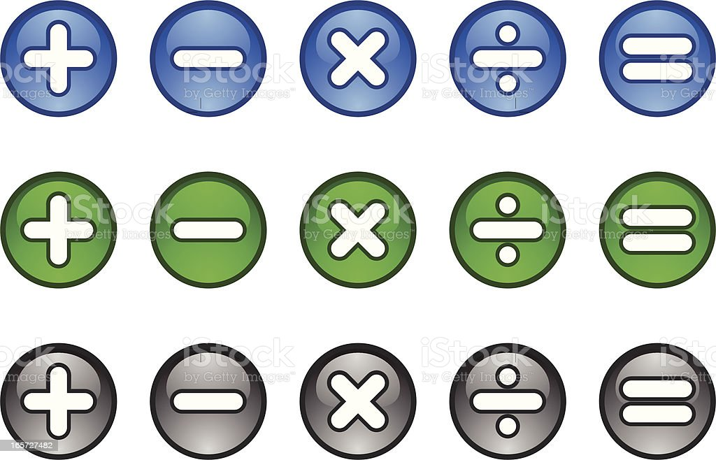 Calculator Maths Symbols Icon Buttons Plus Minus Multiply Divide