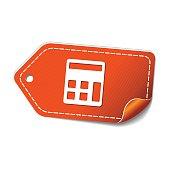 Calculator Orange Vector Icon Design