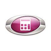 Calculator Pink Vector Icon Button