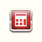 Calculator Red Vector Icon Button