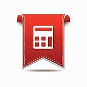 Calculator Red Vector Icon Design