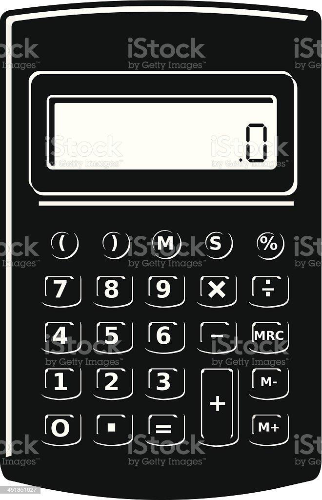 Calculator Silhouette Icon royalty-free stock vector art