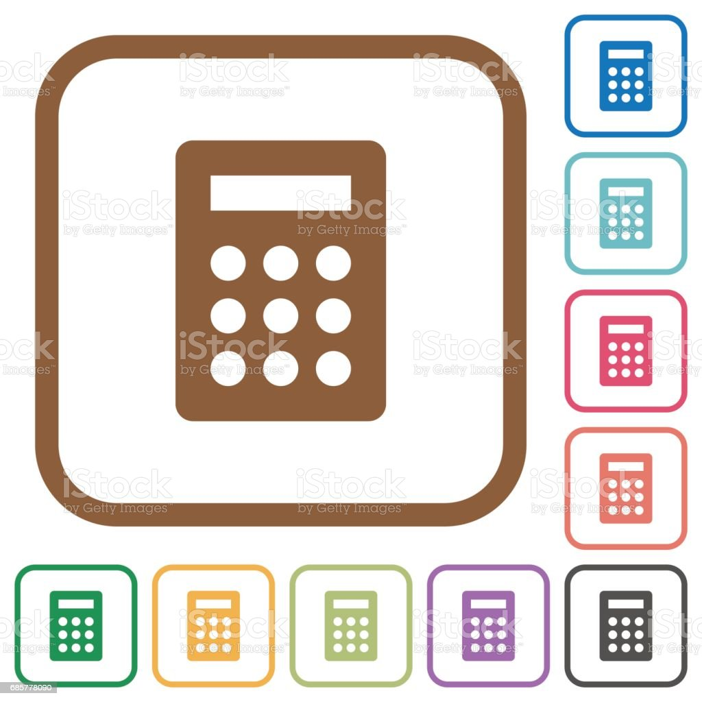 Calculator simple icons royalty-free calculator simple icons stock vector art & more images of accountancy
