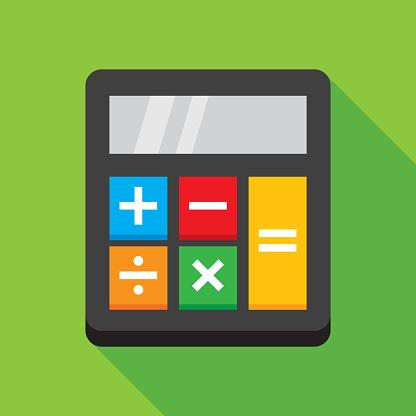 Calculator Small Icon Flat