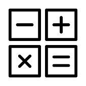 calculator Thin Line Vector Icon