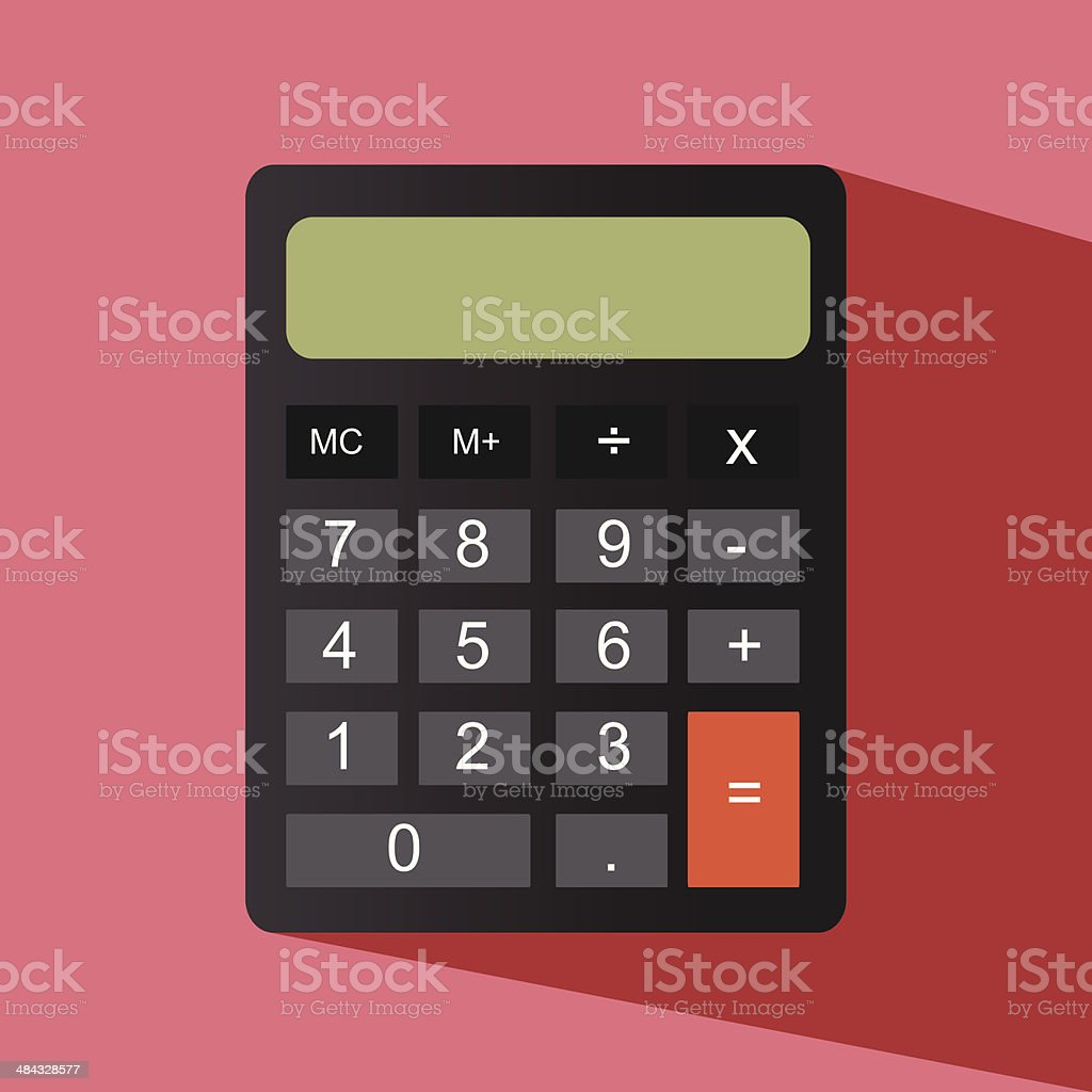calculator vector icon vector art illustration