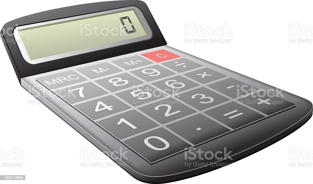 Calculator royalty-free calculator stock vector art & more images of black color