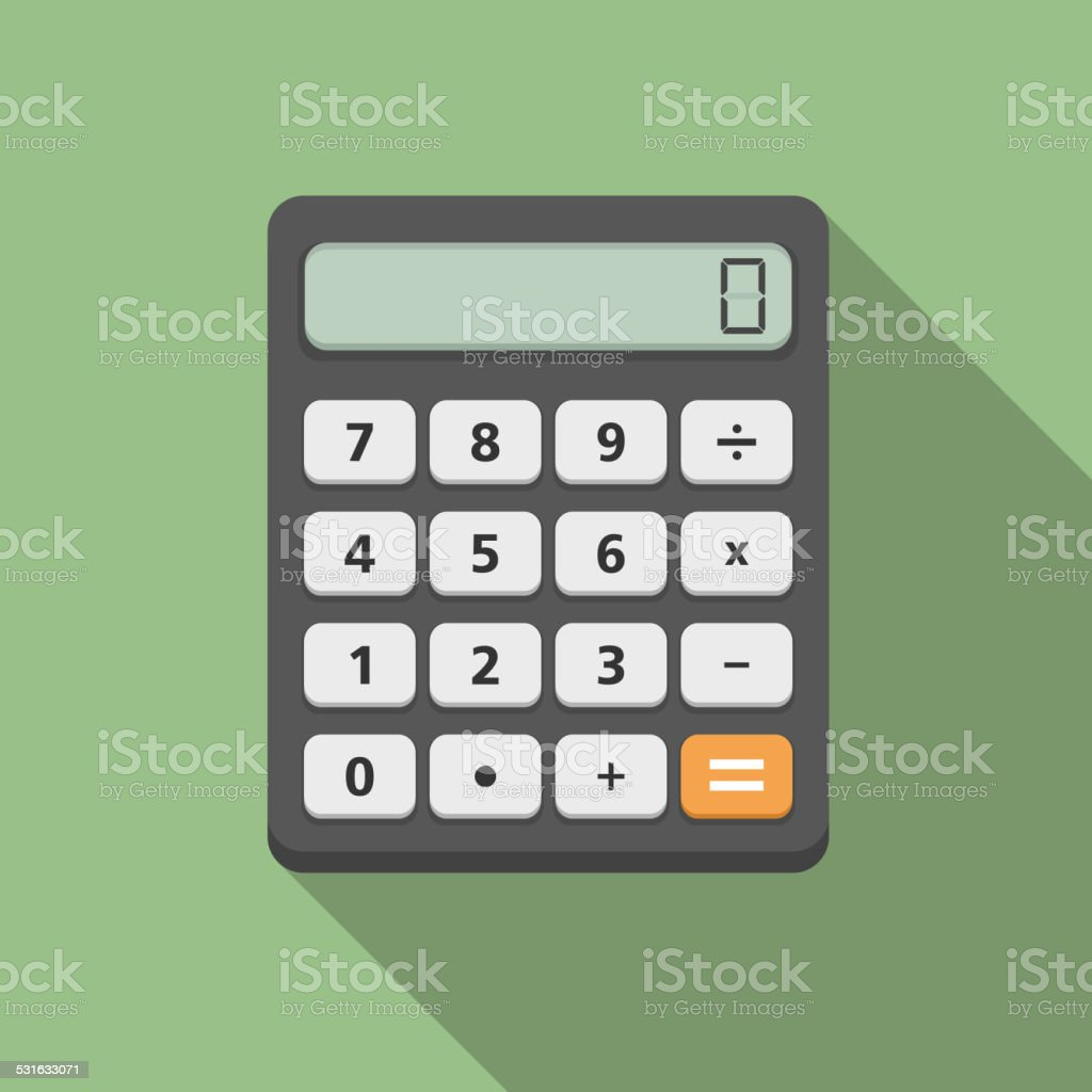 Calculator vector art illustration