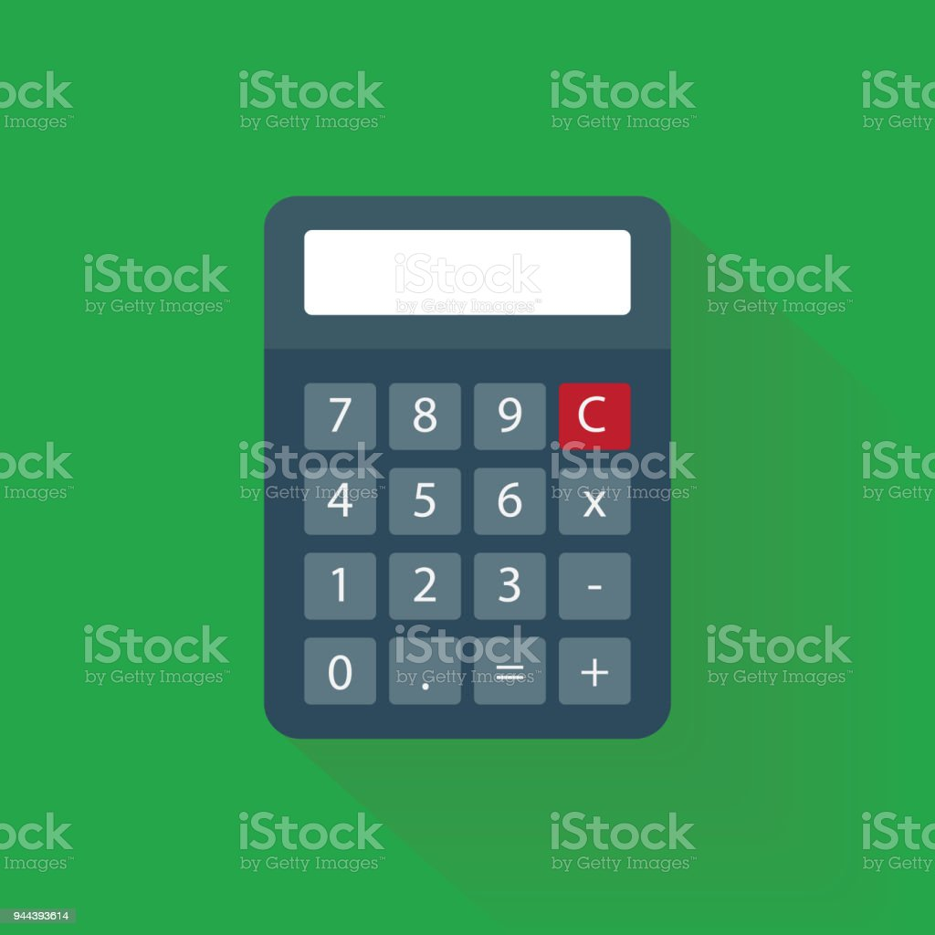 Calculator Vector With Flat Style Stock Vector Art & More Images of ...
