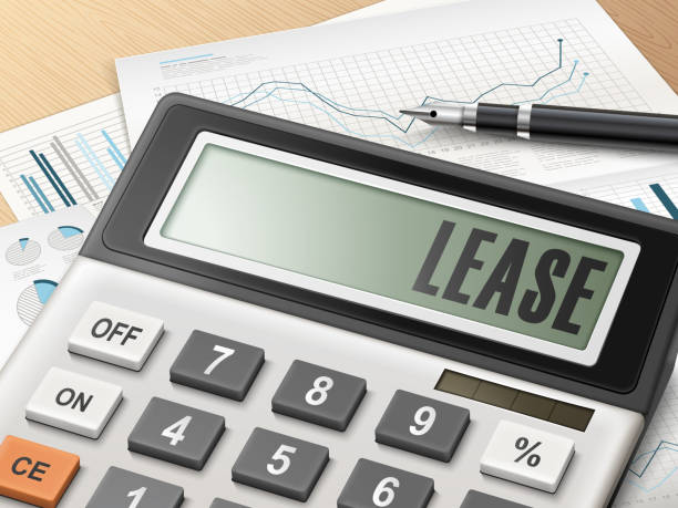 calculator with the word lease calculator with the word lease on the display lease agreement stock illustrations