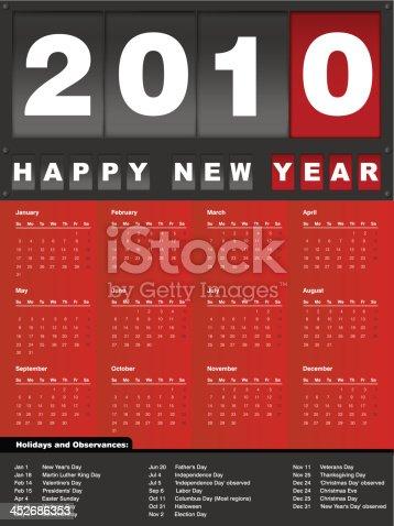 istock Calendar 2010 452686353