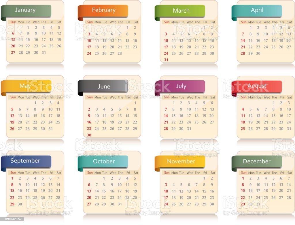 Calendar 2013 vector art illustration