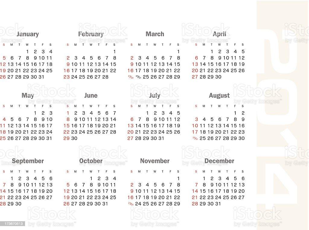 calendar 2014 royalty-free calendar 2014 stock vector art & more images of 2014