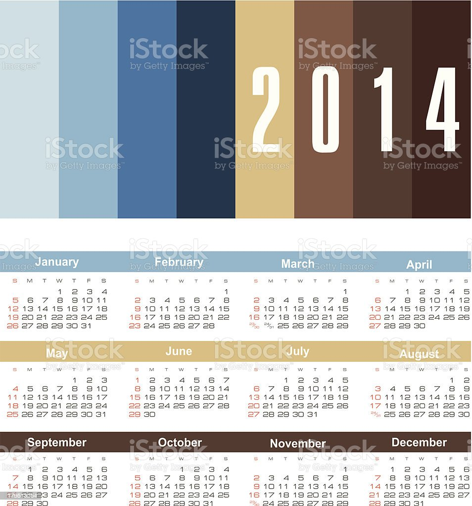 calendar 2014 royalty-free calendar 2014 stock vector art & more images of 2014