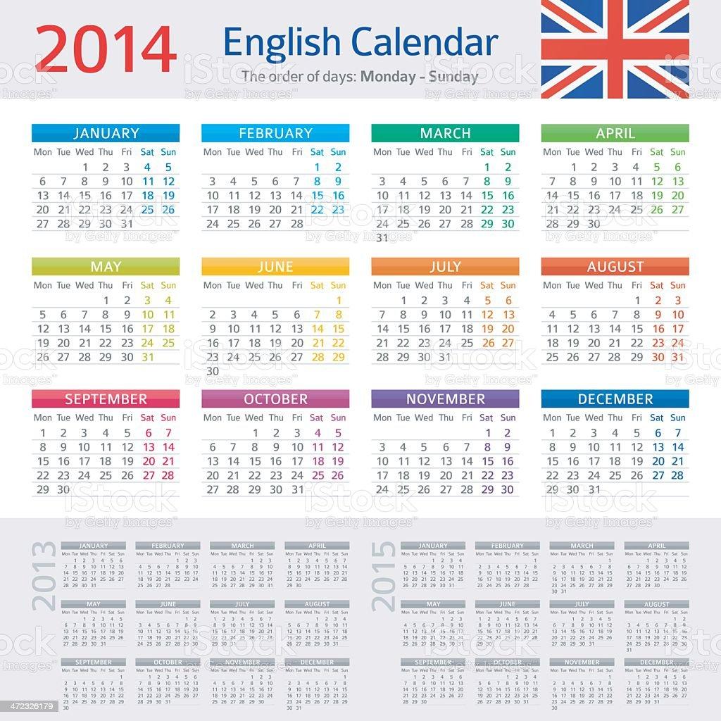 Calendar 2014 royalty-free calendar 2014 stock vector art & more images of 2013