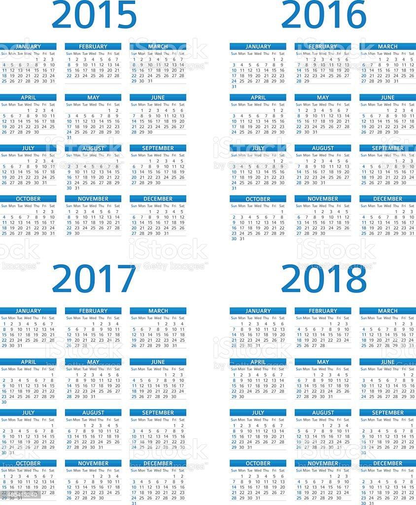 Kalender 2015, 2016 2017 208-illustration Lizenzfreies kalender 2015 2016 2017 208illustration stock vektor art und mehr bilder von kalender