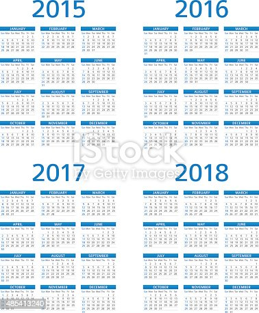istock Calendar 2015 2016 2017 208 - illustration 485413240