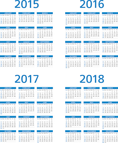 Calendar 2015 2016 2017 208 - illustration