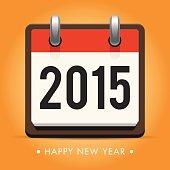 Calendar 2015, happy new year card