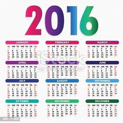 Calendar 2016 design