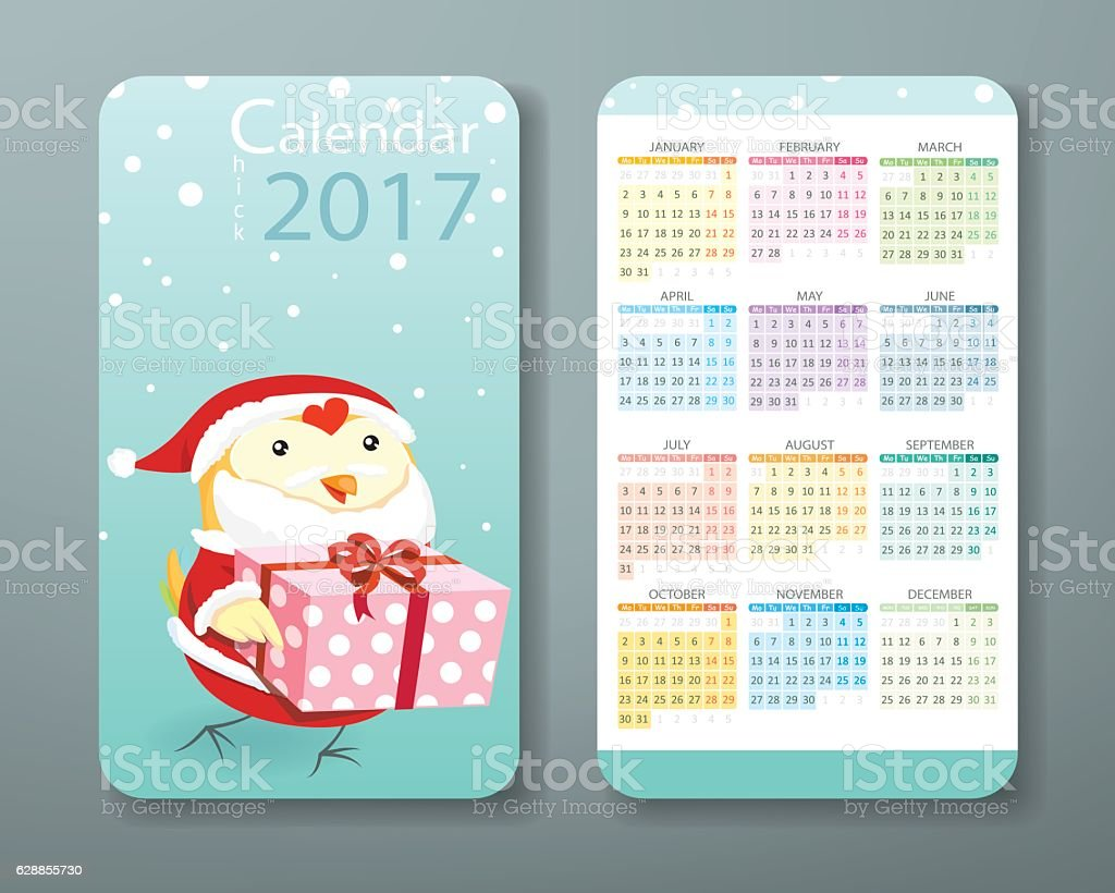 Calendar 2017 business card size christmas concept stock vector business card size christmas concept royalty free stock vector art magicingreecefo Image collections