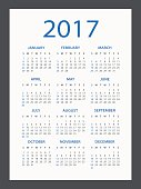 Calendar 2017 - illustration