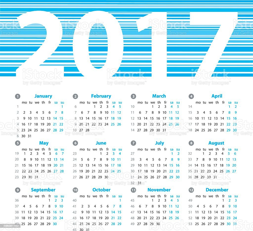 Year Zero Calendar : Calendar year vector design template with week