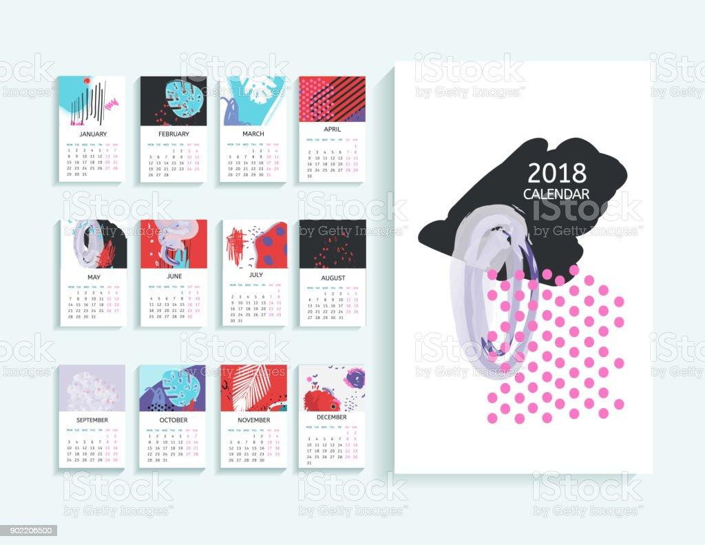 Fein Druckbare Monatskalender Vorlage Bilder - Beispiel Anschreiben ...