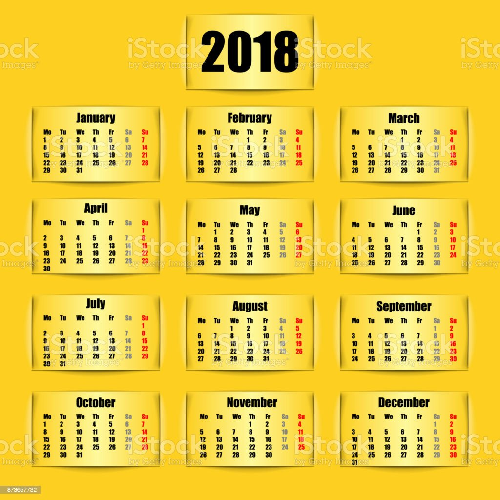 calendar 2018 banner design vector illustration royalty free calendar 2018 banner design