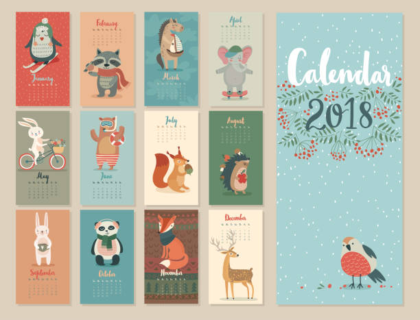 Calendrier 2018. - Illustration vectorielle