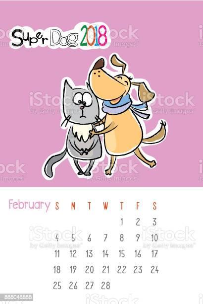 Calendar 2018 with cute funny dog and sad cat vector id888048888?b=1&k=6&m=888048888&s=612x612&h=3himend c3upbhorxdzsuiqxy h uhmuadgli14qcba=