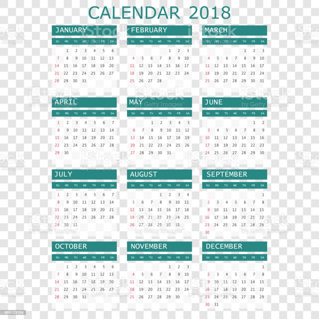2018 17 calendar planner