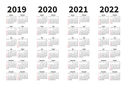 Modèle De Conception De Vecteur De Lannée De Calendrier 2019 2020