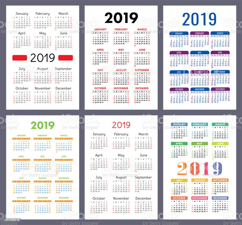 Semaine 34 Calendrier 2019.Calendrier 2019 Ensemble Colore La Semaine Commence Le