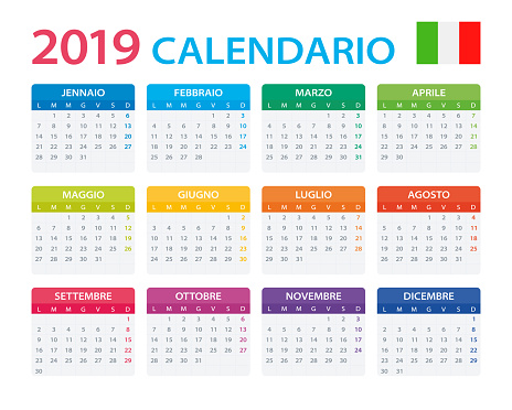 Calendar 2019 - Italian Version