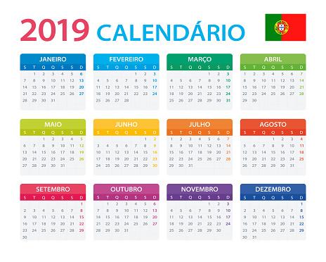 Calendar 2019 - Portuguese Version