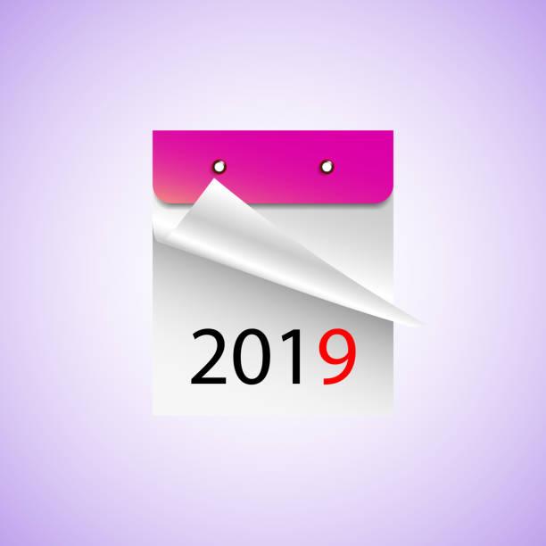 Calendar 2019. Vector illustration EPS10 Calendar 2019. Vector illustration EPS10 detach stock illustrations