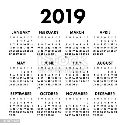 Calendario Vector Blanco.2019 Calendar Clip Art Download 138 Clip Arts Page 1