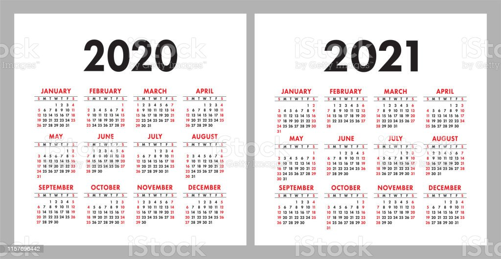 Calendar 2020 2021 Square Vector Calender Design Template ...