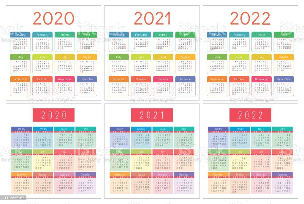kalender 2020 2021 2022 jahre taschenkalender bunte reihe. Black Bedroom Furniture Sets. Home Design Ideas