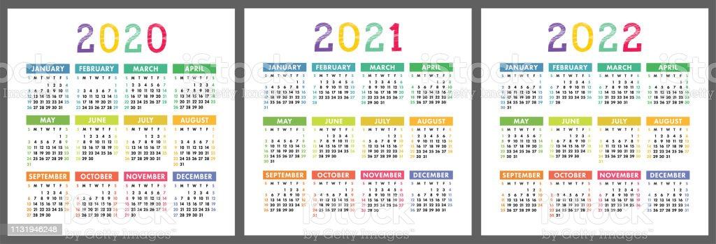 Calendario 1946.Calendar 2020 2021 2022 Years Vertical Vector Calender