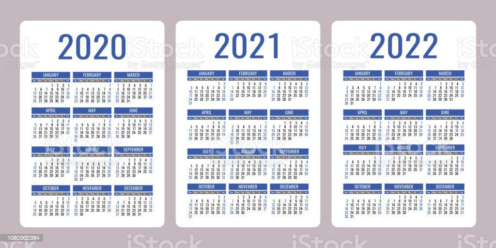 Calendrier 2021 Avec Semaine.Calendrier 2020 2021 2022 Ans Modele De Conception De