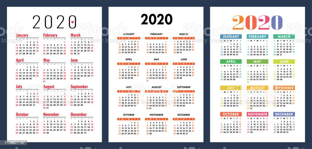 Calendario 2020 2020 Para Imprimir.Calendaris Anual 2020 Wonderful Image Gallery