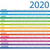Calendar 2020 - Columns