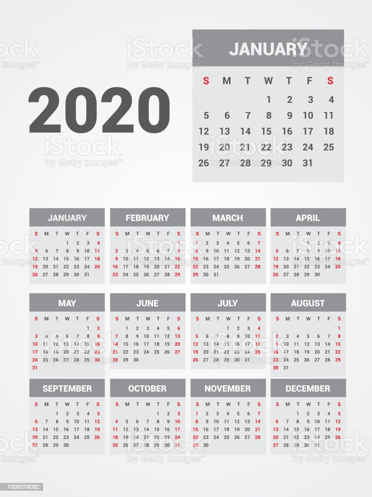 Thai Calendar 2020 Calendar 2020 Eps 10 Stock Illustration   Download Image Now   iStock