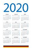 Calendar 2020 - illustration. German version
