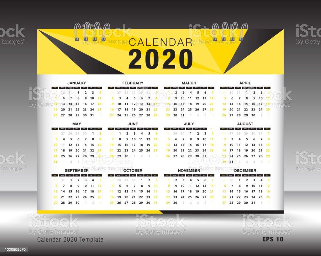 Modele De Calendrier 2020.Disposition De Modele De Calendrier 2020 Depliant Brochure