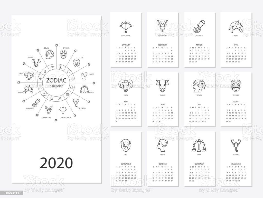 Calendario Polimi 2020 2020.Calendario Zodiacal 2020