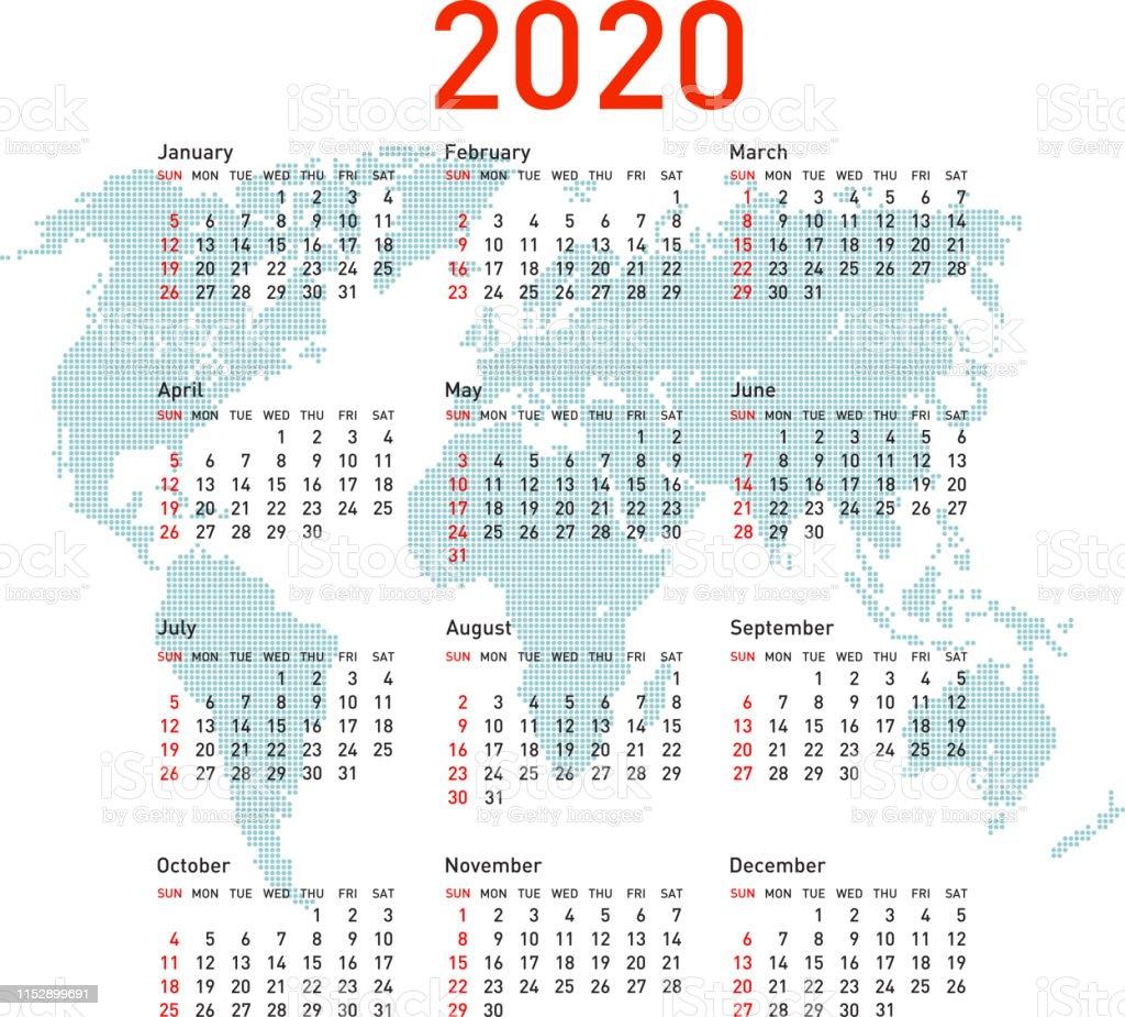 kalender med röda dagar 2020